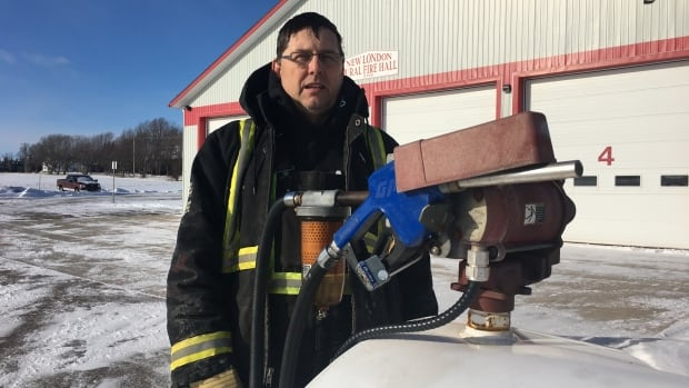 New London fire Chief Allen Cole was 'stunned' to hear of Island Petroleum's offer to replace the stolen fuel.