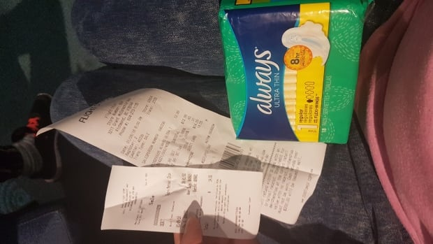 Kitzul said she purchased a packet of sanitary pads for nearly $15 after finding several bathrooms in the Vancouver International Airport without dispensers.