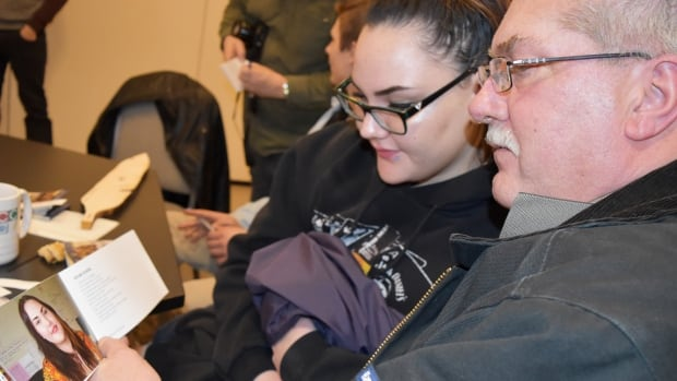 Salmon Arm student Brooke Keating, left, wrote a poem about her grandfather Lindsay Keating, right, and his wife Toni for the latest edition of the Elder Project released this week.
