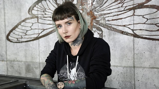 Memphis Cadeau is the co-owner of Hamilton's Grim City Tattoo Club. The shop announced on Tuesday it is offering free laser removal of racist tattoos, human trafficking tattoos and similar imagery.