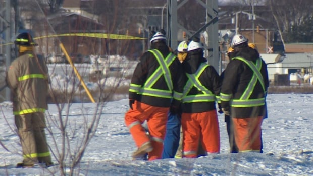 Saint John emergency crews worked throughout the evening Tuesday to purge the broken butane line and are now working to clean up the site and conduct repairs, said the Emergency Measures Organization.