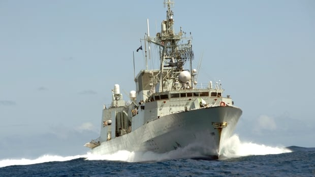 HMCS Toronto practises high-speed manoeuvres in the Indian Ocean, off Somalia in 2007. The navy has begun installing Wi-Fi aboard its warships so sailors can stay connected with families at home during long deployments.