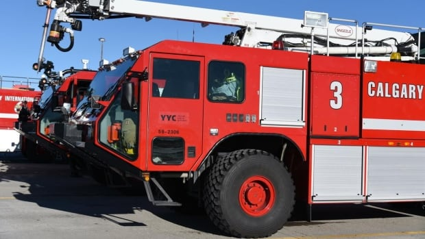 The Calgary airport authority owns the firehall and equipment at YYC but the City of Calgary provides the firefighters under an agreement with the authority.
