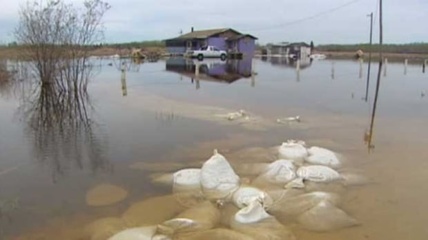 Flooding on Manitoba's Little Saskatchewan First Nation in 2011, one of four First Nations affected when water was diverted away from Winnipeg.