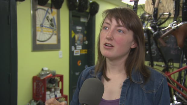 Krysta Cowling of the New Brunswick Cycling Advocacy Group is asking the City of Moncton to update its parking bylaws.