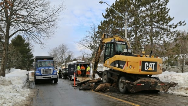 The City of Fredericton says buses are being rerouted from Parkside Drive on the south side because of a water main break.