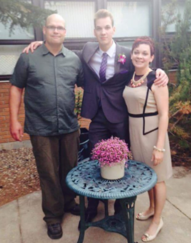 Cade Sprackman with parents Jerry and Michelle