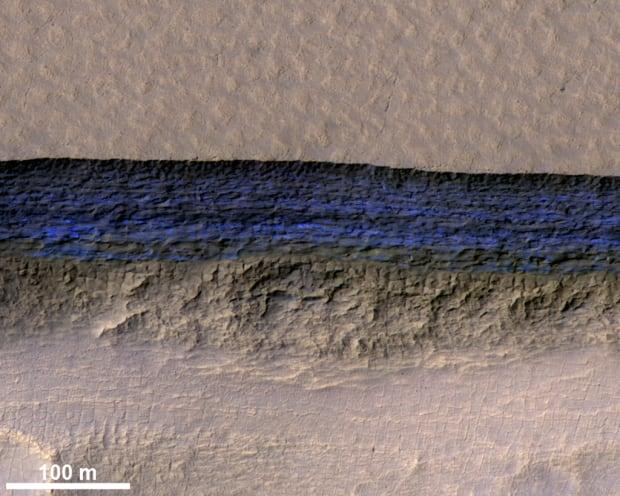 Mars ice erosion