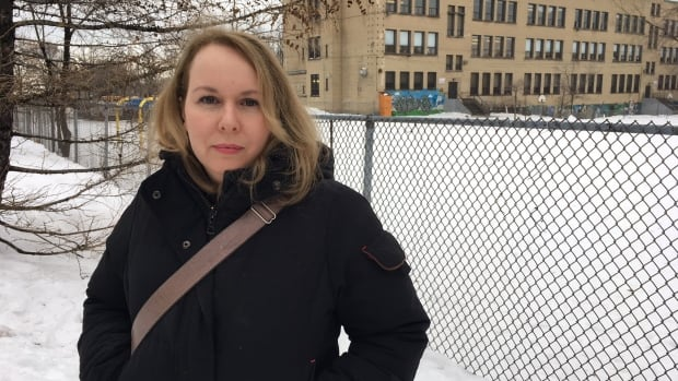 After her 7-year-old son suffered a concussion when he slipped on ice, Denise Thibaudeau wants school authorities to act more quickly to take care of the icy hazard caused by a longstanding drainage problem in the schoolyard.