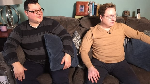 Nick Bonnar (left) and Graham MacDonnell said Service Canada must update its forms, and the government agency agreed.