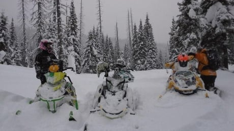 Meghan Bosecker snowmobile