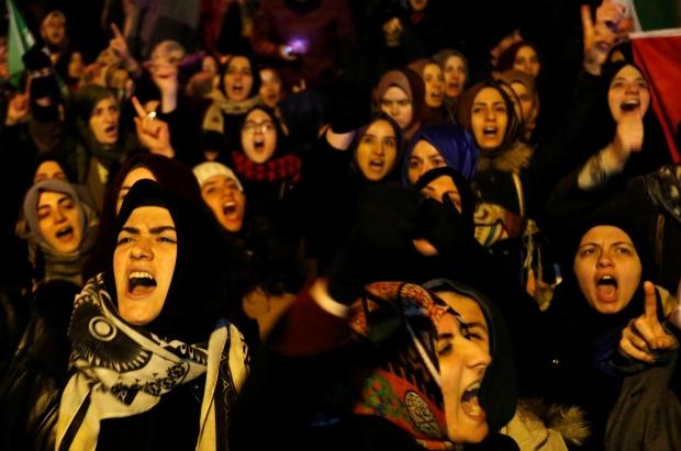 MIDEAST-CRISIS/SYRIA-TURKEY-IRAN-PROTEST