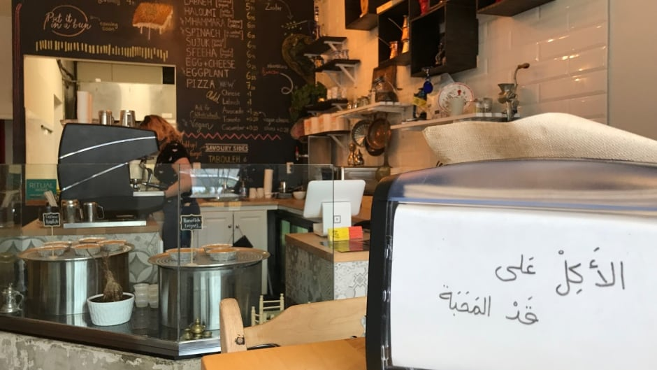 Soufi's, Toronto's first Syrian restaurant, opened in July 2017 and serves mana'eesh (flatbread with toppings) and knaffeh (a cheese-pastry dessert) prepared fresh from traditional recipes.
