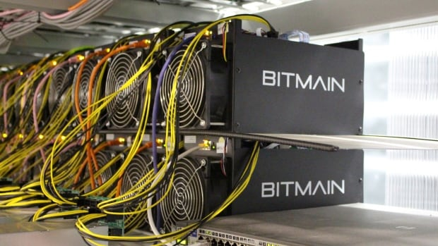 Bitcoin mining computers are pictured in Bitmain's mining farm near Keflavik, Iceland. The Chinese company has its eyes trained on Quebec.