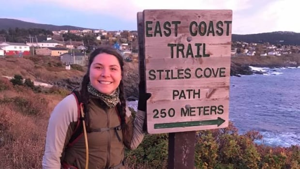 Michaela Pye at the start of East Coast Ultra marathon in October. Competitors in her second endurance race, the White Mountains 100, can choose to compete on foot, skis or fat bike. Pye says she chose to run because it is more of a challenge.