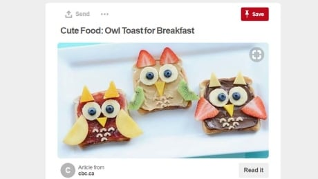 Owl toasts cbc pinterest