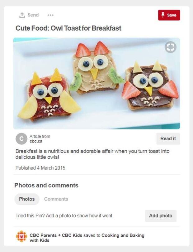 Owl toasts cbc pinterest