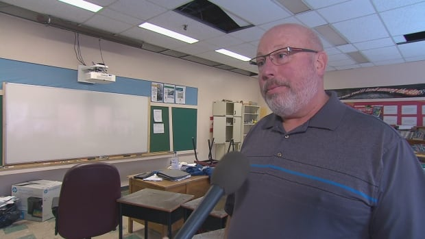 Ewen Cameron, the principal of Petitcodiac Regional School, which recently flooded, has been deeply touched by the offer of support from Devon Middle School in Fredericton.