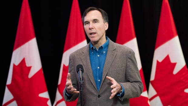 Minister of Finance Bill Morneau speaks to the media before the second day of the Liberal cabinet's retreat in London, Ont. Friday. An internal memo for Morneau forecasts a tepid Canadian economy for the next five years.