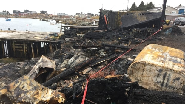 Two wharves, two fishing shacks and a boat were destroyed by a fire in Lower Prospect, N.S.
