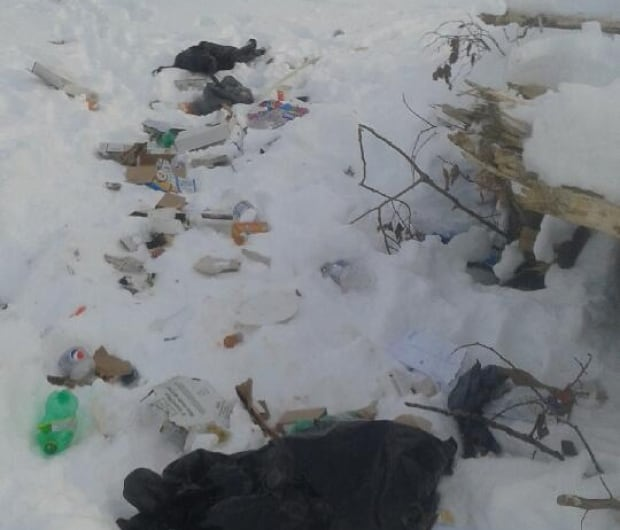 Dumped garbage Happy Valley Goose Bay