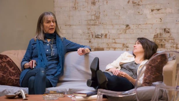 A 'behind-the-scenes' photo of Soulpepper Theatre's production of A Delicate Balance.