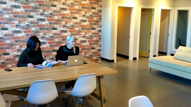 URBN Cowork is a new co-working space in south Edmonton. Remote workers and small business owners can pay to use the desks, private offices and meeting rooms in the workspace.