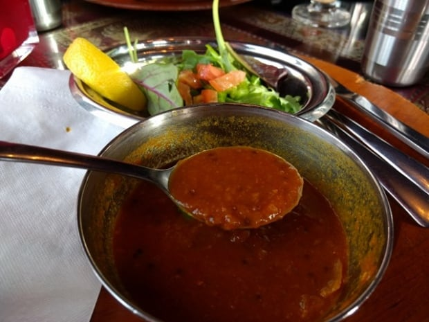 Tomato soup at Curry's Restaurant