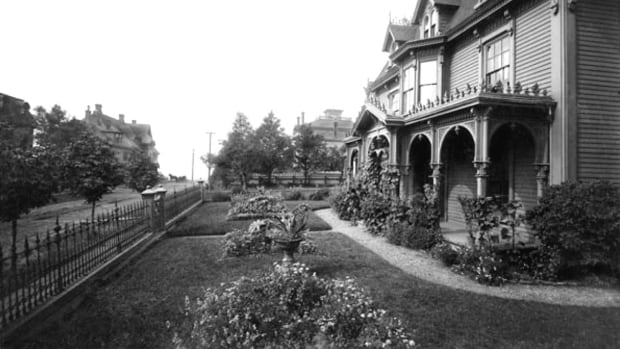 Earle MacDonald has made a hobby of restoring photos like this one, which shows the residence and front gardens of architect David Sterling on Water Street in 1894. Photo edited by Earle MacDonald.