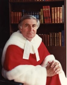 Justice Gerald Le Dain in his robes