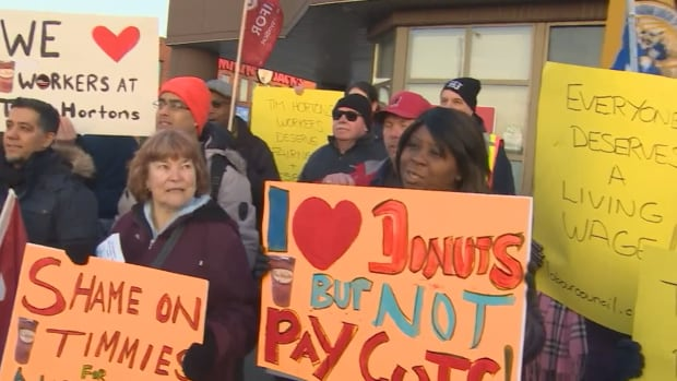Tim Hortons minimum wage protest