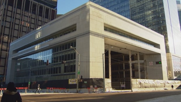 Demolition of the former Bank of Montreal building at 102nd Avenue and 101st Street started in early January and is expected to be complete by April.