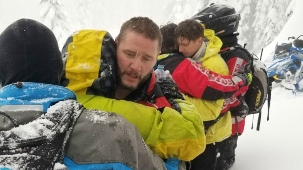 Three sledders are now safe after getting lost while snowmobiling on Boulder Mountain in B.C.