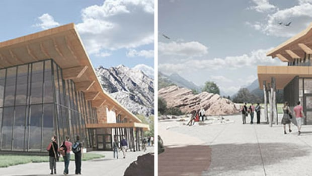 Waterton visitor centre renderings