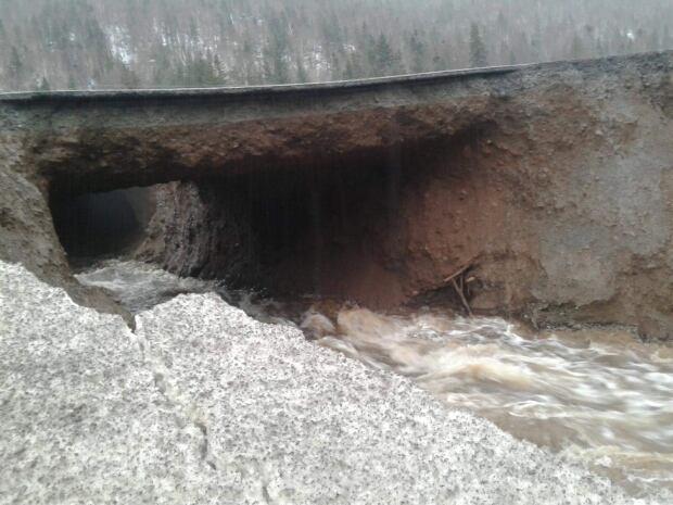Washout near Little Rapids