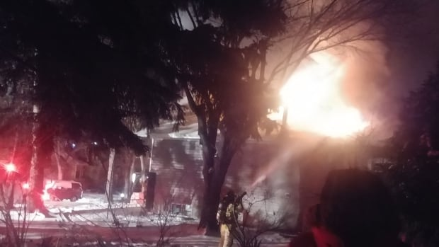 Firefighters were on scene for several hours dousing hotspots.