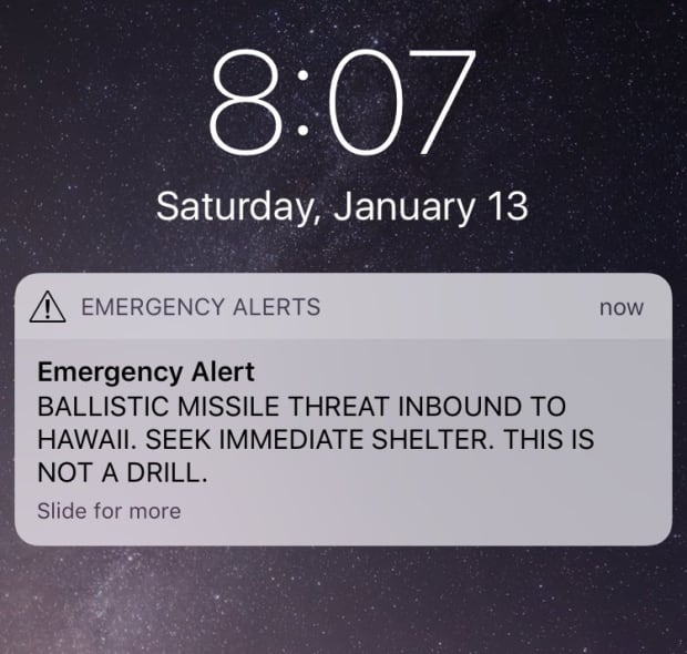 Hawaii senator says false alarm of inbound ballistic missile was 'totally unacceptable'