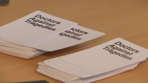 The Doctors Against Tragedies game aims to educate people about the risks of fentanyl use. It was inspired by the popular Cards Against Humanity game.