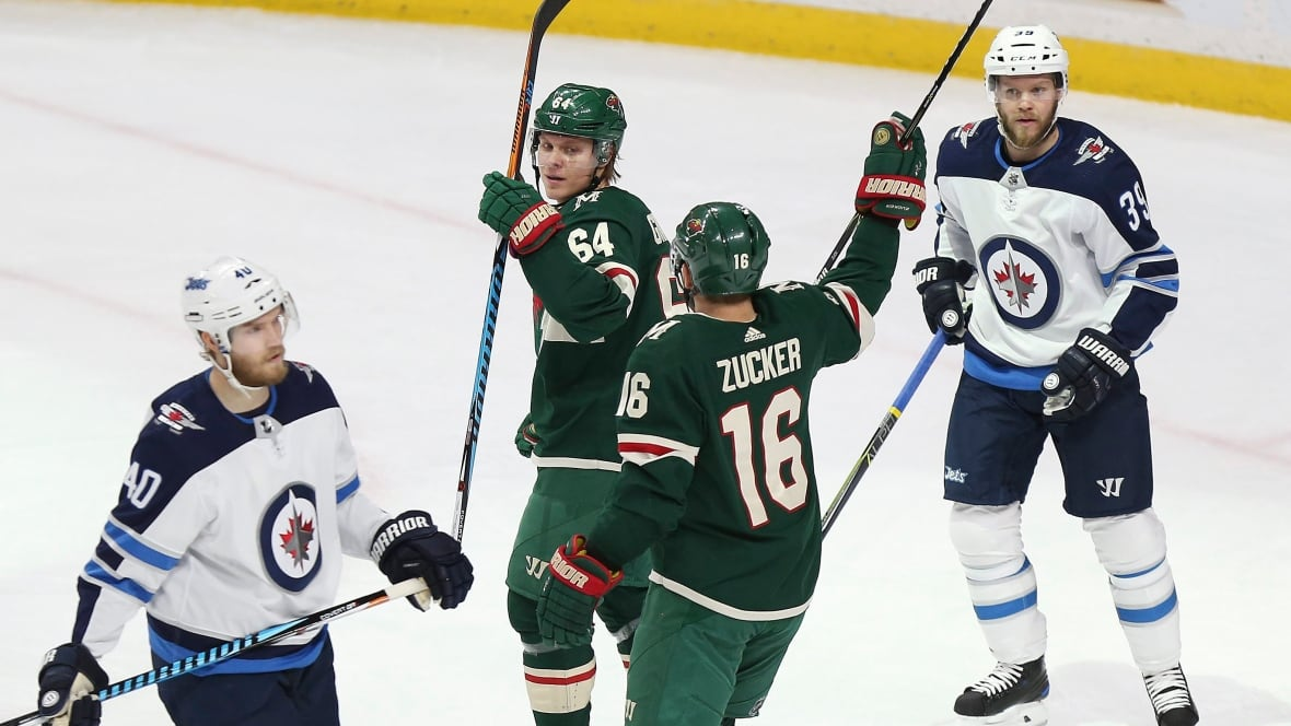 Dumba scores twice, Wild dominate Jets