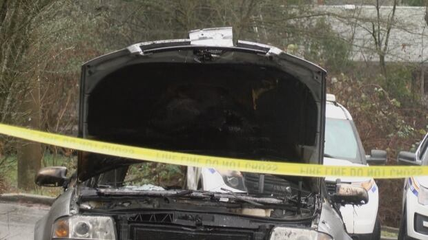 Burned car related to Nanaimo B.C. shooting 13 Jan 2018