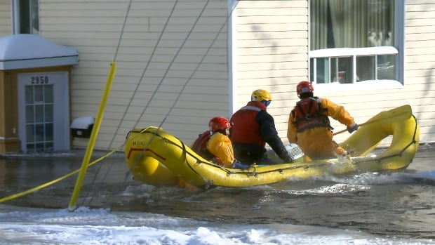 Dozens of homes were evacuated in Quebec City as several areas in southern Quebec experienced flooding over the weekend.