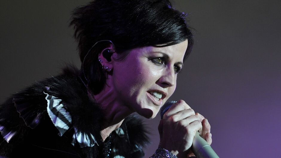 Irish singer Dolores O'Riordan of Irish band The Cranberries performs on stage.