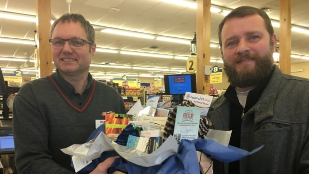 Manager of the Souris Co-op has included a gift card in the baskets.