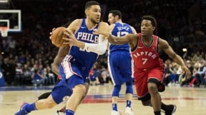 Lowry returns from injury, but 76ers put hurt on Raptors