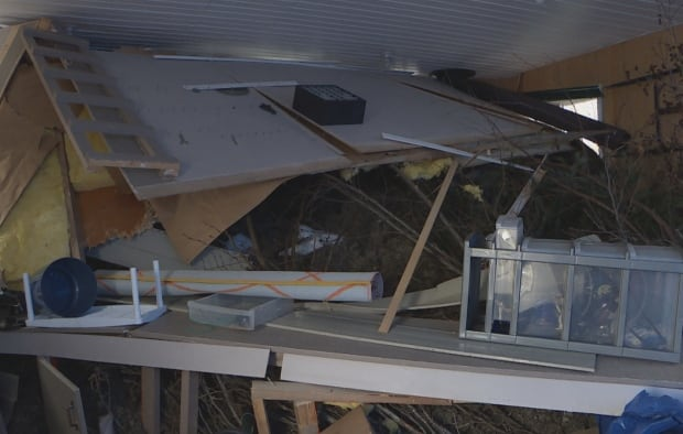Garage damage Benoit's Cove