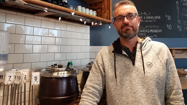 Andy Fennell owns Gravity Espresso and Wine Bar in Inglewood.