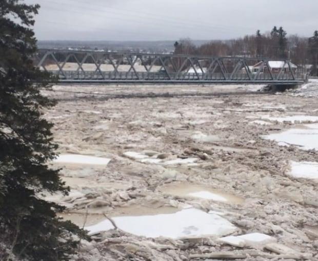 Humer River Nicholsville bridge ice deer lake