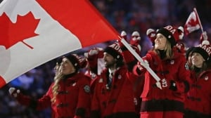 Hayley Wickenheiser Flag Bearer