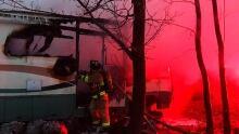 Camper, house fire, Sarnia