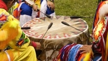 First Nation Drum circle
